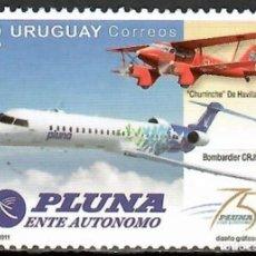 Sellos: SELLO URUGUAY 2011 PLUNA AVIONES. Lote 165026186