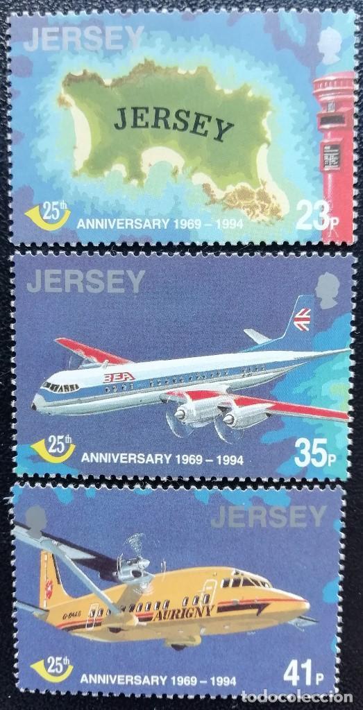 1994. AVIONES. JERSEY. 663 / 667. ISLA, AVIONES VANGUARD (BEA) Y AIR JERSEY. NUEVO. (Sellos - Temáticas - Aviones)