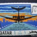 Sellos: QATAR, 1970 INAUGURACION LINEA AEREA GULF. Lote 167687300
