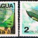 Sellos: NICARAGUA º 2031 Y 2032, 50 ANIVERSARIO DEL ZEPPELIN, NUEVOS SIN GOMA. Lote 168472816