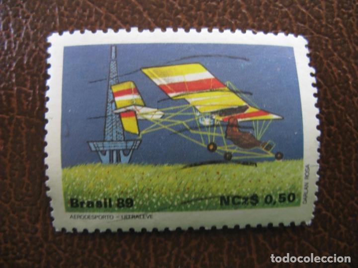 BRASIL,1989 ULTRALIGERO (Sellos - Temáticas - Aviones)