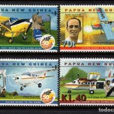 Sellos: PAPUA 847/50** - AÑO 2001 - AVIONES - 50º ANIVERSARIO DE LA COMPAÑIA AEREA MAF. Lote 172636654