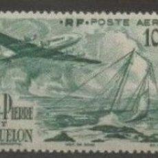Sellos: SELLOS SAINT PIERRE ET MIQUELON 1947 Y&T 18/20* AEREOS AVIONES. Lote 176132514