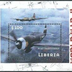 Sellos: SELLO LIBERIA 2001 WORLD WAR II P-47 THUNDERBOLT. Lote 176150238