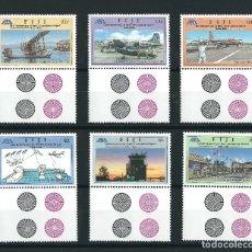 Sellos: SELLOS FIJI 50 ANNIVERSARY OF NADI INTERNATIONAL AIRPORT 1946-1996 . Lote 176375178