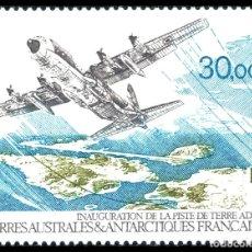 Sellos: TAAF TERRITORIO ANTARTICO FRANCES 1993 Y&T 128 AEREO** HERCULES C-130. Lote 176407083