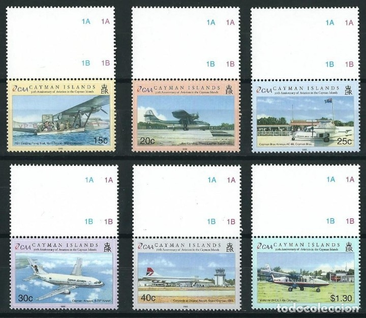 Sellos: SELLOS CAYMAN ISLANDS 2002 50 ANIVERSARIO DE LA AVIACION EN LAS ISLAS CAYMAN - Foto 1 - 176463730