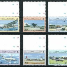 Sellos: SELLOS CAYMAN ISLANDS 2002 50 ANIVERSARIO DE LA AVIACION EN LAS ISLAS CAYMAN. Lote 176463730