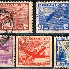 Timbres: CHILE Nº 249, LINEA AEREA NACIONAL (AÑO 1941), USADO, SERIE CORTA. Lote 178723725