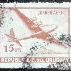 Sellos: 1942. AVIACIÓN. URUGUAY. A 125. CUATRIMOTOR DE FABRICACIÓN URUGUAYA. SERIE CORTA. USADO.. Lote 180010385