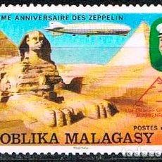 Timbres: MADAGASCAR Nº 835, 75 ANIVERSARIO DEL ZEPPELIN, 127 GRAF ZEPPELIN SOBRE EGIPTO, USADO. Lote 182523085