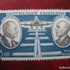 Sellos: -FRANCIA 1971, PIONEROS DEL CORREO AEREO, YVERT 46 AEREO. Lote 182716236