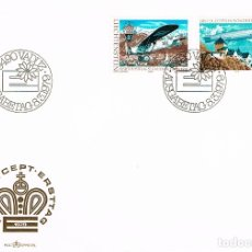 Sellos: LIECHTENSTEIN IVERT Nº664/5, EUROPA 1979, SERVICIO POSTAL AEREO, PRIMER AEROPLANO POSTAL Y ZEPPELIN,. Lote 182991891
