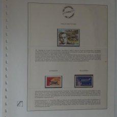 Sellos: HOJA AVIACIÓN / DIE GESCHICHTE DER LUFTFAHRT - WALLIS UND FUTUNA - BULGARIEN. Lote 183457768