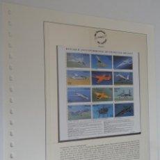 Sellos: DIE GESCHICHTE DER LUFTFAHRT - PALAU 1995 - RESEARCH AND EXPERIMENTAL JET PROPELLED AIRCRAFT. Lote 183460763