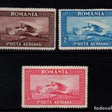Sellos: RUMANIA AEREO 1/3* - AÑO 1928 - AVIONES - BIPLANO SPAD S33. Lote 189569915
