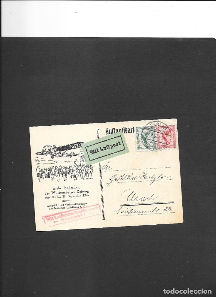 ALEMANIA IMPERIO VUELO EN 1926 (Sellos - Temáticas - Aviones)