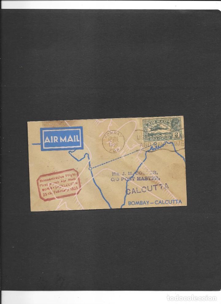 INDIA BRITANICA VUELO EN 1935 (Sellos - Temáticas - Aviones)