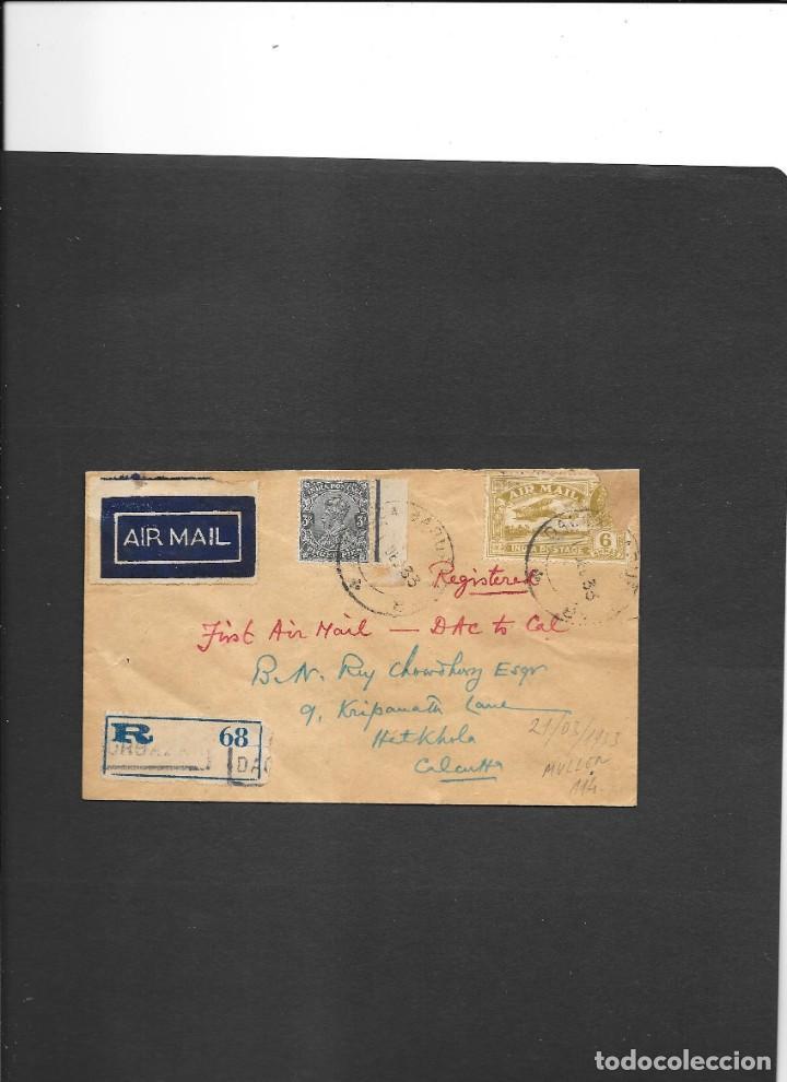INDIA BRITANICA PRIMER VUELO DACCA (HOY EN DÍA ES BANGLADESH) A CALCUTA EN EL AÑO1933 (Sellos - Temáticas - Aviones)