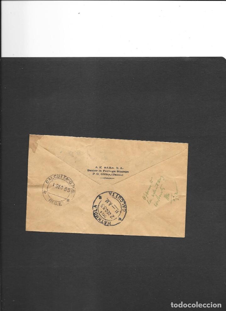 Sellos: INDIA BRITANICA PRIMER VUELO DACCA (hoy en día es BANGLADESH) A CALCUTA EN EL AÑO1933 - Foto 2 - 191883003