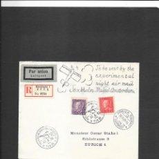 Sellos: SUECIA VUELO EN 1929 STOCKHOLM A AMSTERDAM . Lote 191918608