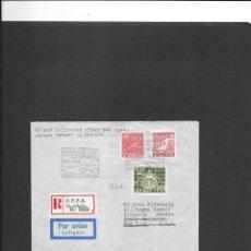 Sellos: SUECIA VUELO EN 1945 STOCKHOLM A NUEVA YORK. Lote 191918855
