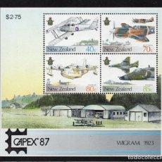 Sellos: NUEVA ZELANDA HB 58** - AÑO 1987- AVIONES - CAPEX 87, EXPOSICION FILATELICA INTERNACIONAL. Lote 194074171