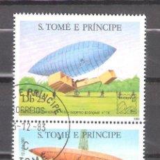 Sellos: SANTO TOMÉ Y PRINCIPE Nº 739/740º BICENTENARIO DE LAS PRIMERAS ASCENSIONES DEL HOMBRE A LA ATMÓSFERA. Lote 194708095