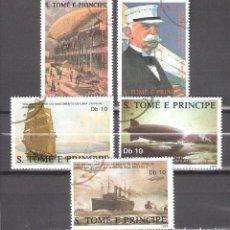 Sellos: SANTO TOMÉ Y PRINCIPE Nº 915/19º SESQUICENTENARIO DE VON ZEPPELIN. SERIE COMPLETA. Lote 194709002