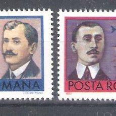 Sellos: RUMANIA AÉREO Nº 234/235** PIONEROS DE LA AVIACIÓN. SERIE COMPLETA. Lote 194880176