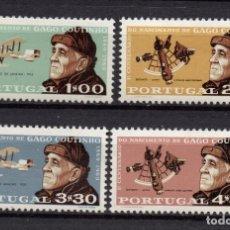 Sellos: PORTUGAL 1065/68** - AÑO 1969 - AVIONES - CENT. DEL NACIMIENTO DEL GEOGRAFO Y AVIADOR GAGO COUTINHO. Lote 195314510