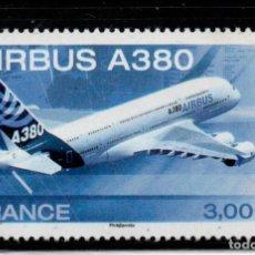Sellos: FRANCIA AEREO 69** - AÑO 2006 - AVIONES - AIRBUS A380. Lote 210978335