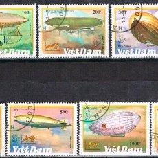 Sellos: VIETNAM Nº 1387, ZEPELINES, USADO (SERIE COMPLETA). Lote 198423008
