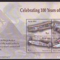 Sellos: SELLOS MALAWI 2004 100 AÑOS DE AVIACION. Lote 198622426