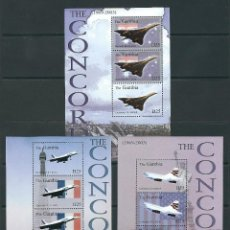 Sellos: SELLOS GAMBIA 2003 THE CONCORDE. Lote 198926275