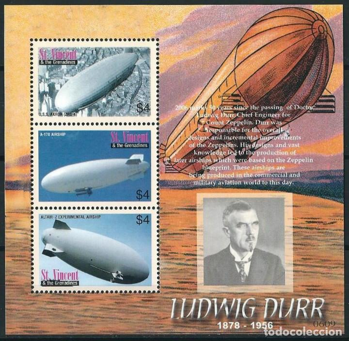 SELLOS ST VINCENT & THE GRENADINES 2006 LUDWING DURR ZEPPELINES (Sellos - Temáticas - Aviones)