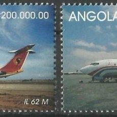Sellos: SELLOS ANGOLA 1999 Y&T 1223/24 BOEING 737 / IL 62 M. Lote 199499582