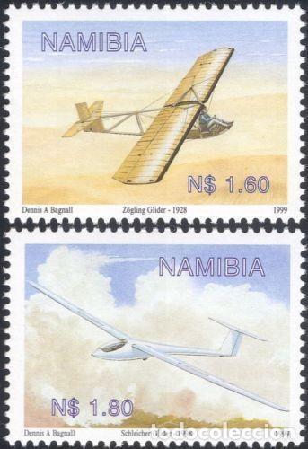 SELLOS NAMIBIA 1999 Y&T 886/87** PLANEADORES (Sellos - Temáticas - Aviones)