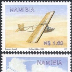 Sellos: SELLOS NAMIBIA 1999 Y&T 886/87** PLANEADORES. Lote 199500551