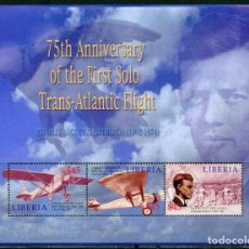 Sellos: SELLOS LIBERIA 2002 CHARLES LINDBERGH. Lote 199501695