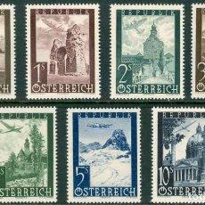 Sellos: SELLOS AUSTRIA 1947 Y&T 47/53** AEREOS AVIONES. Lote 199634867