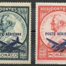 Sellos: SELLOS MONACO 1946 Y6T 13/14** AEREO AVIONES . Lote 199642573