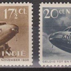 Sellos: SELLOS INDIAS HOLANDESAS 1938 Y&T 18/19** AEREO DOUGLAS DC-2 AVIONES. Lote 199711752