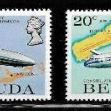 Sellos: SELLOS BERMUDA 1975 Y&T 306/09** AVIONES ZEPPELIN. Lote 199713736