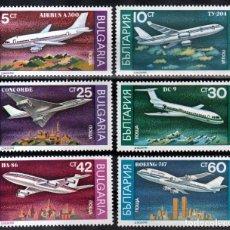 Sellos: SELLOS BULGARIA 1990 Y&T 3330/35** AVIONES. Lote 199715641