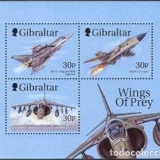Sellos: SELLOS GIBRALTAR 1999 WINGS OF PREY AVIONES DE COMBATE. Lote 199736320