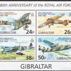 Sellos: SELLOS GIBRALTAR 1998 80 ANIVERSARIO DE LA RAF. Lote 199737441