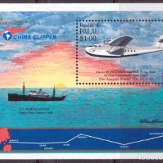 Sellos: SELLO PALAU 1985 CHINA CLIPPER AVION. Lote 201101441