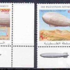 Sellos: SELLOS AUTORIDAD PALESTINA 2001 ZEPPELIN BORDE DE HOJA. Lote 202842546