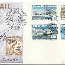 Sellos: SOBRE PRIMER DIA DE EMISION PAPUA NUEVA GUINEA 1984 AVIONES. Lote 202850648